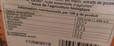 Panettone Pur Beurre - Informations nutritionnelles - fr