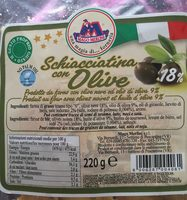 Schiacciatina con olive - Product - fr