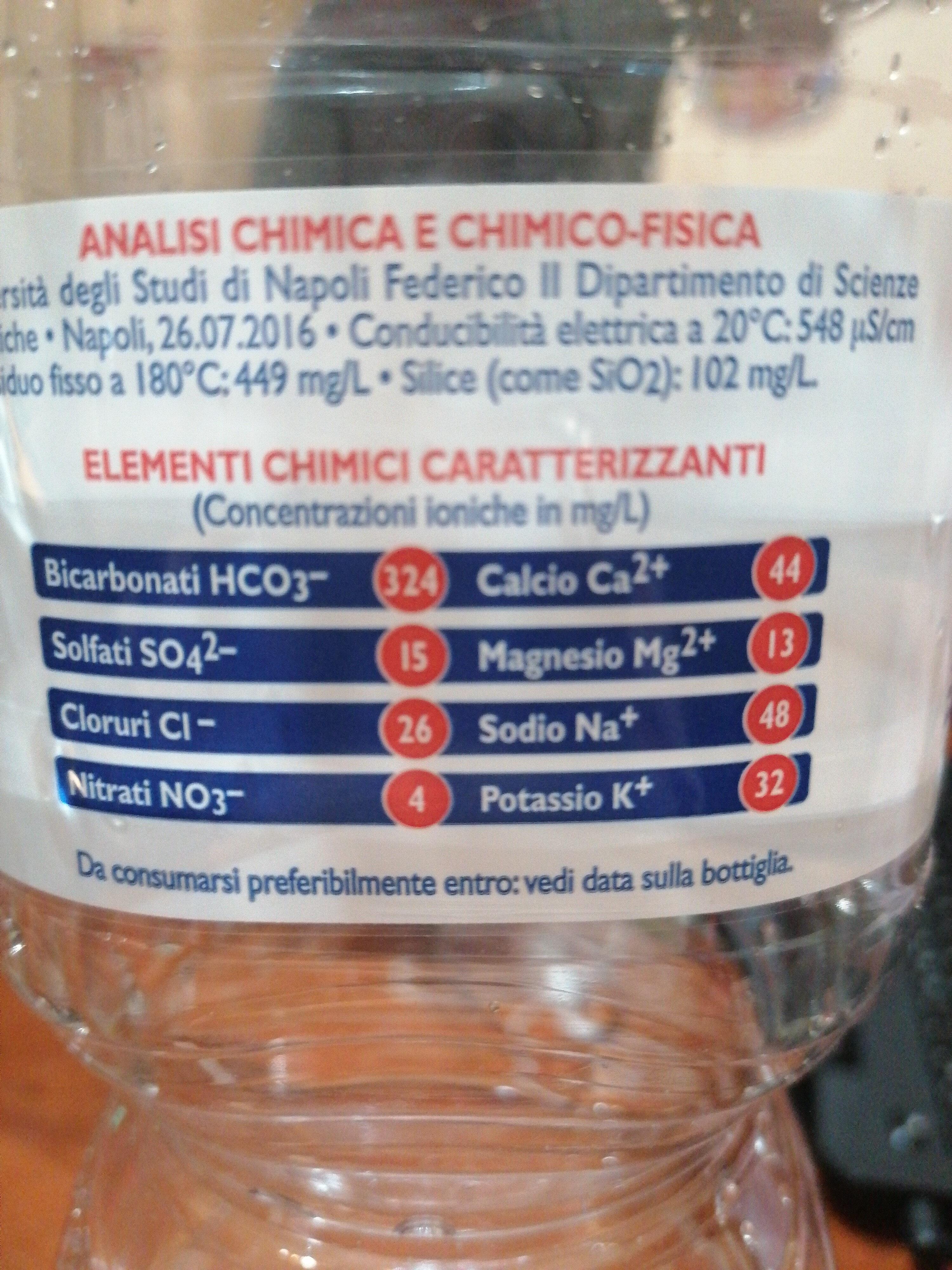 Acqua Minerale Naturale Oligominerale - Ingredienti - it