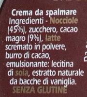 Crema Novi - Ingredienti