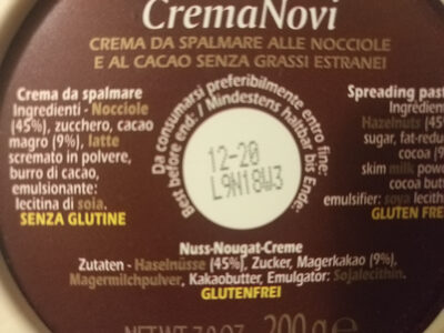 Crema Novi - Ingrédients - it