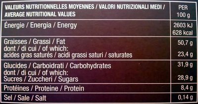Otello - Informations nutritionnelles