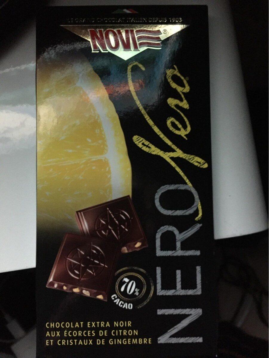 Nero Nero Extra Fondente con Scorzette di Limone - Produit - fr