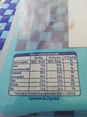 prosciutto cotto scelto light - Nutrition facts
