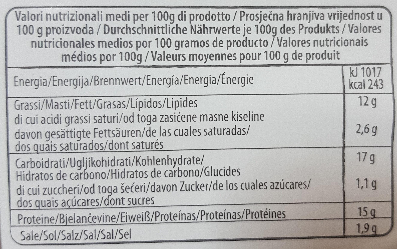 Nuggets Speck & Emmental - Informació nutricional - es