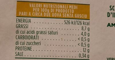 Uova fresche qualità 10 + - Valori nutrizionali