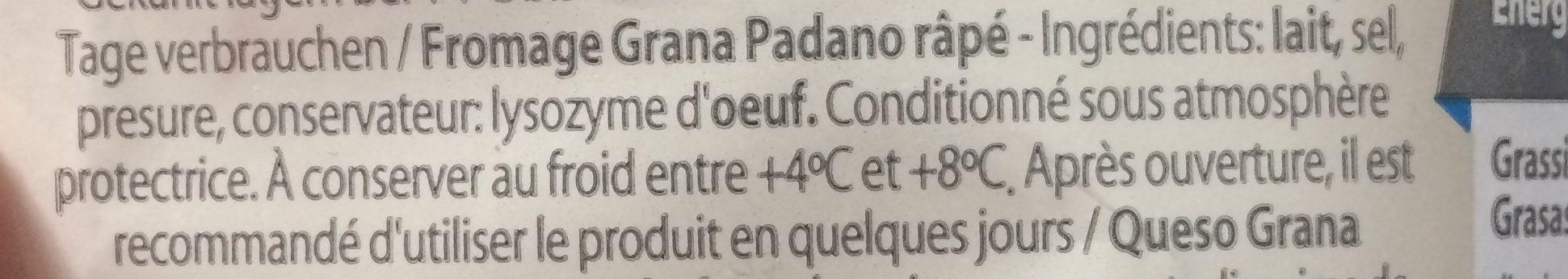 Grana Padano - Ingrediënten - fr