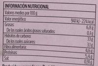 Mezzelune con legumbres - Información nutricional - es