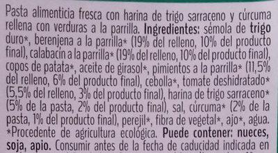 Mezzelune con verduras a la parrilla - Ingredients