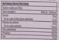 Mezzelune con pesto rojo - Informació nutricional