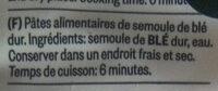 D901727 Tortiglioni - Ingrédients - fr
