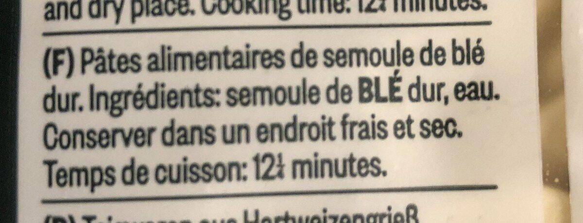 Orecchiette - Ingrédients