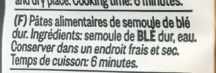 N°263 Gemellini - Ingrediënten - fr