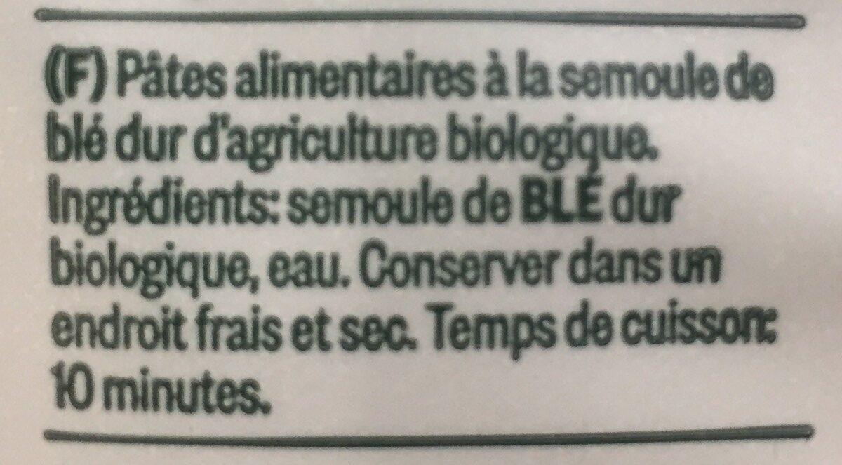 Bio Penne Rigate N. 32 500 GR. Delverde - Ingrédients