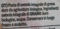 mezzi rigatoni - Ingredients - it