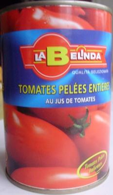 Tomates Pelées Entières au jus de tomates 400 g - La Belinda - Product