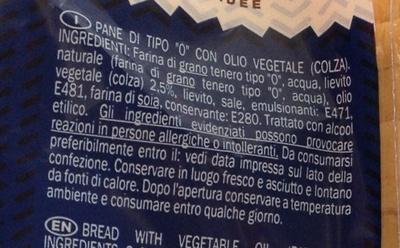 American sandwich Pane bianco per sandwich - Ingredienti