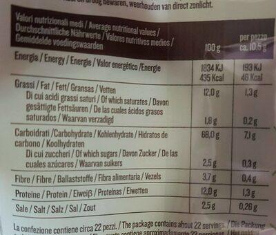 Grissani classici da buongustare con olio di oliva - Nutrition facts - fr