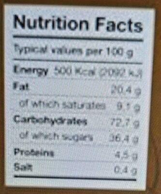 Maple Leaf Cookies - Informazioni nutrizionali - it