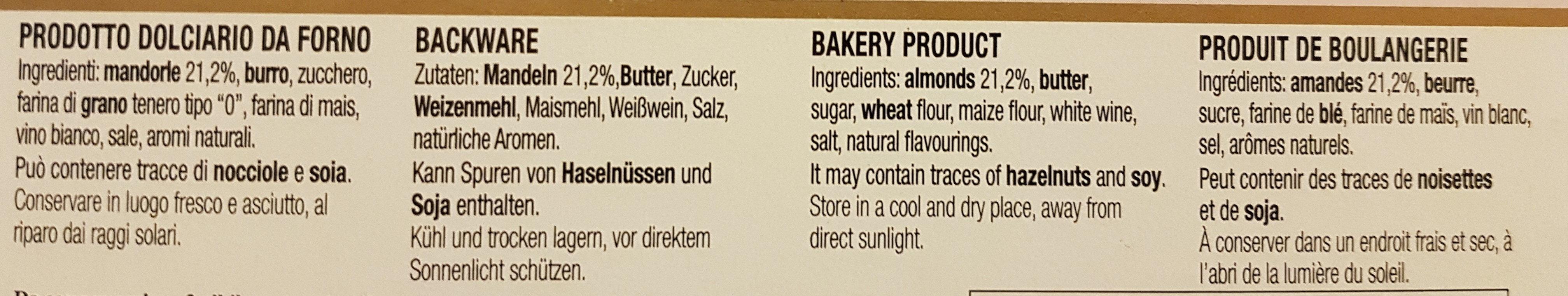La sbrisolona - Ingredients
