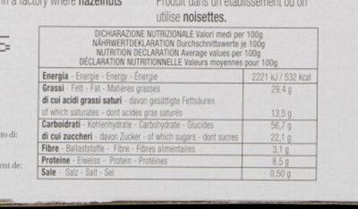 La sbrisolona - Nutrition facts