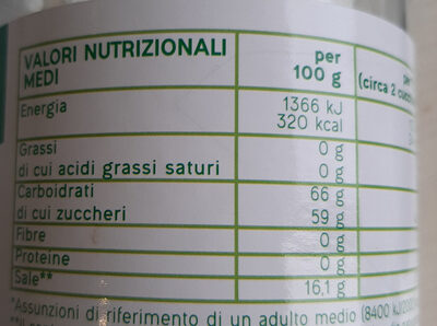 Effervescente granulare - Nutrition facts - it