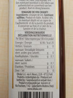 wine vinegar - Nutrition facts