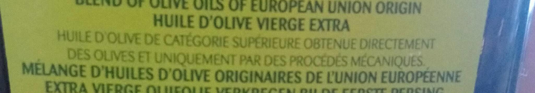 Olio extravergine Di oliva - Ingrediënten - fr
