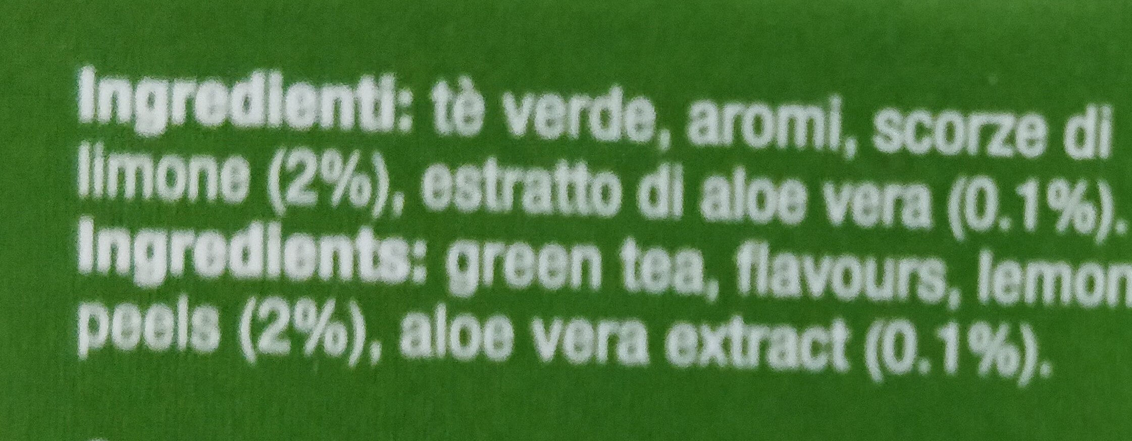 Tea cube - Ingredients - it