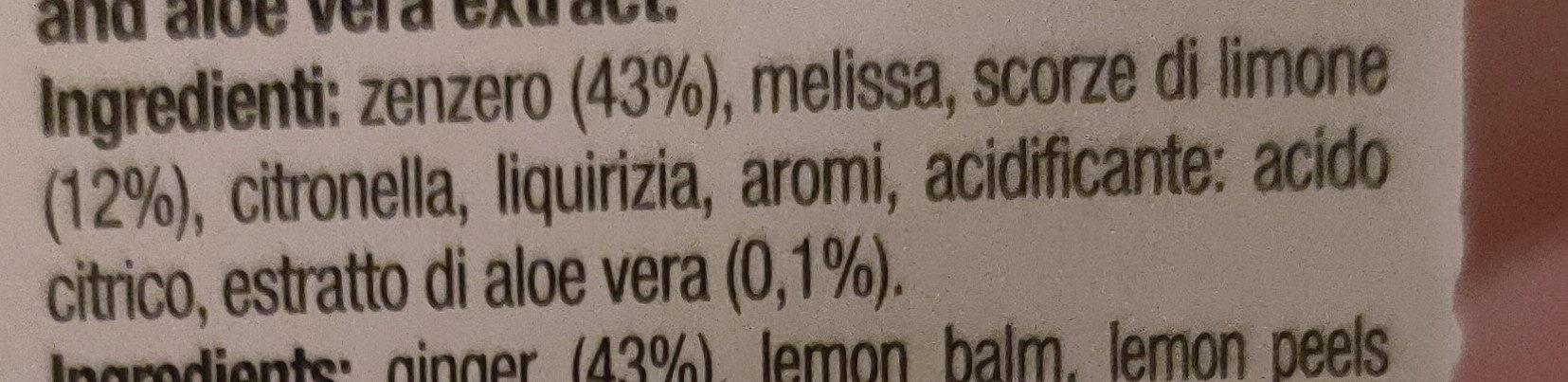 Tea cube zenzero limone aloe - Ingredients - it
