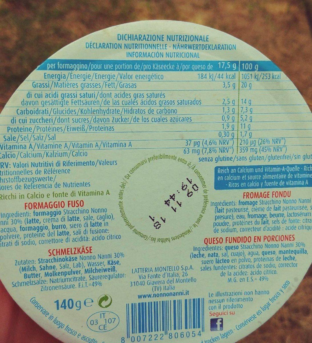Formaggini Nonno Nanni - Informations nutritionnelles - fr