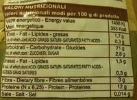 Pasta Toscana - Fusilli Super 85 - Nutrition facts - fr