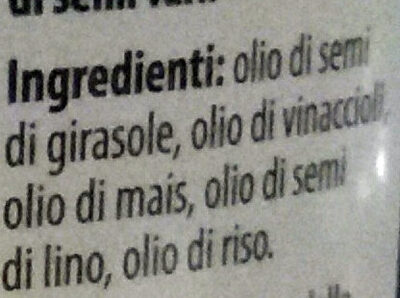 Vitapiù 5 oli - Ingredients