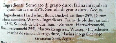 Pizzoccheri della Valtellina - Ingredients - it