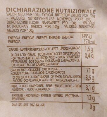 Pasta di semola di grano duro varietà Cappelli - Rigatoni - Informations nutritionnelles