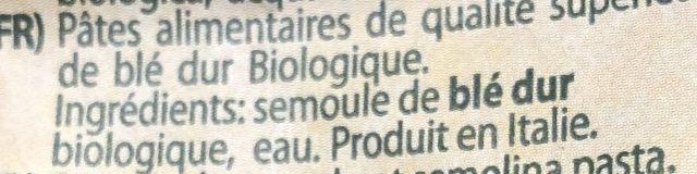 Pâtes Elicoidali Granoro - Ingrédients - fr