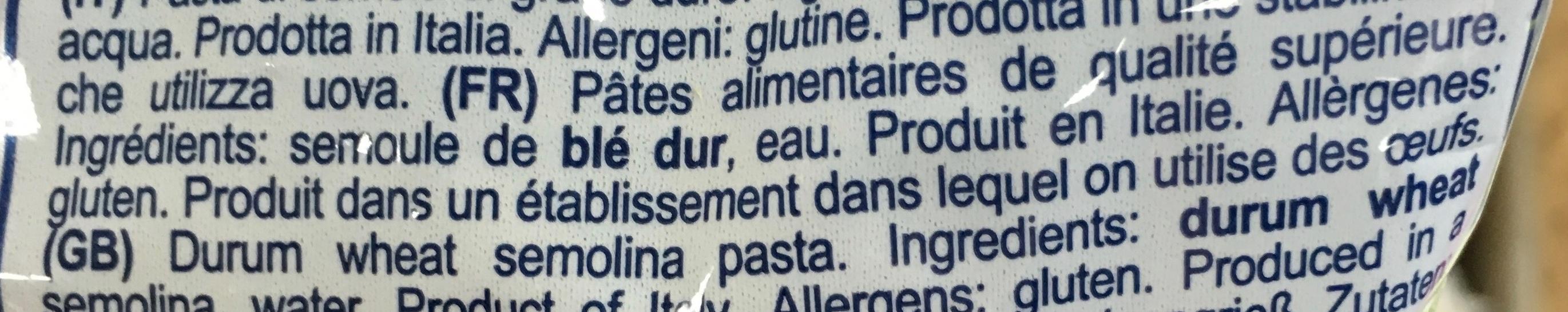 Ditalini Rigati - Ingrédients - fr