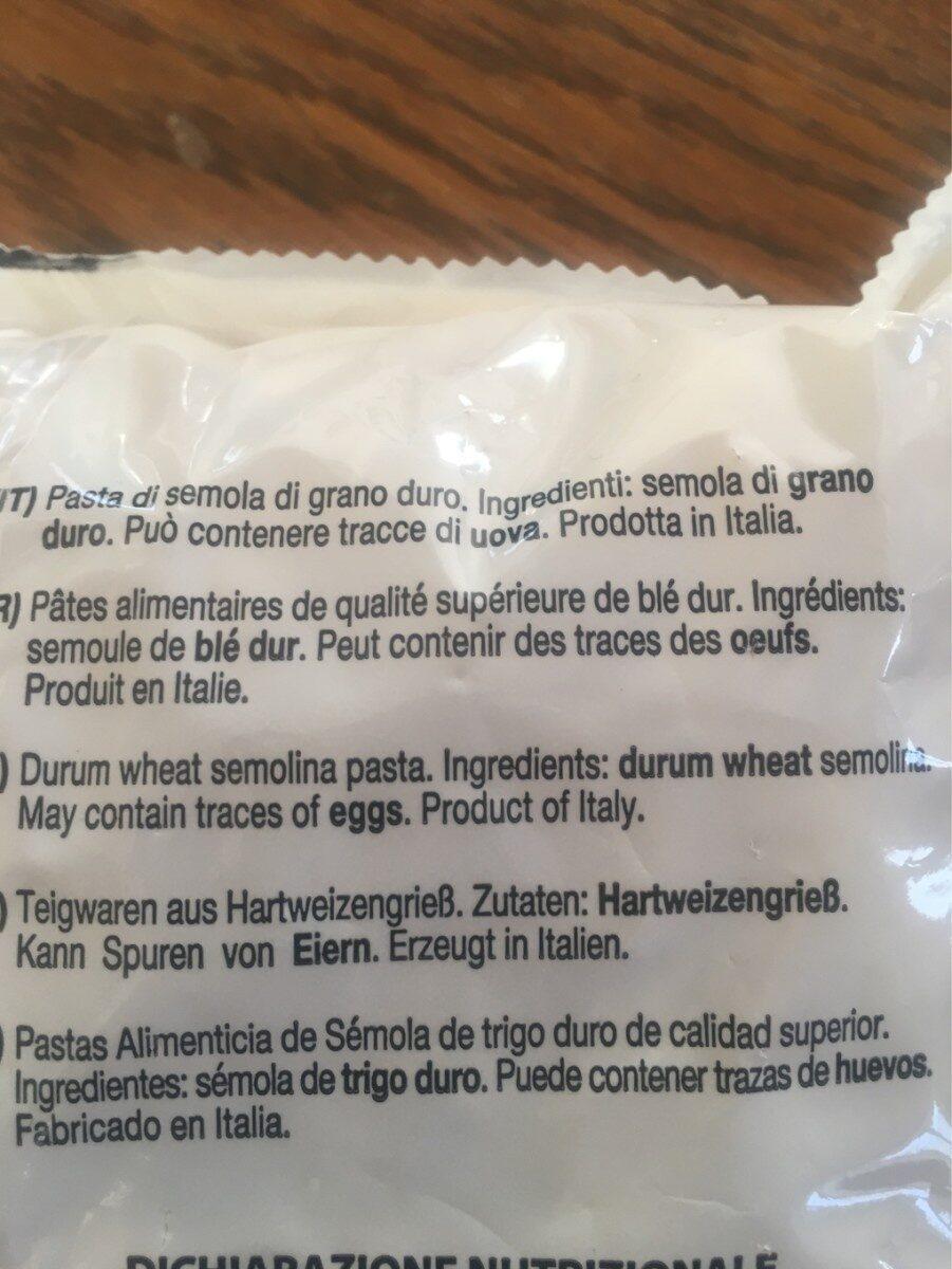 Pâtes de blé dur - Inhaltsstoffe - fr