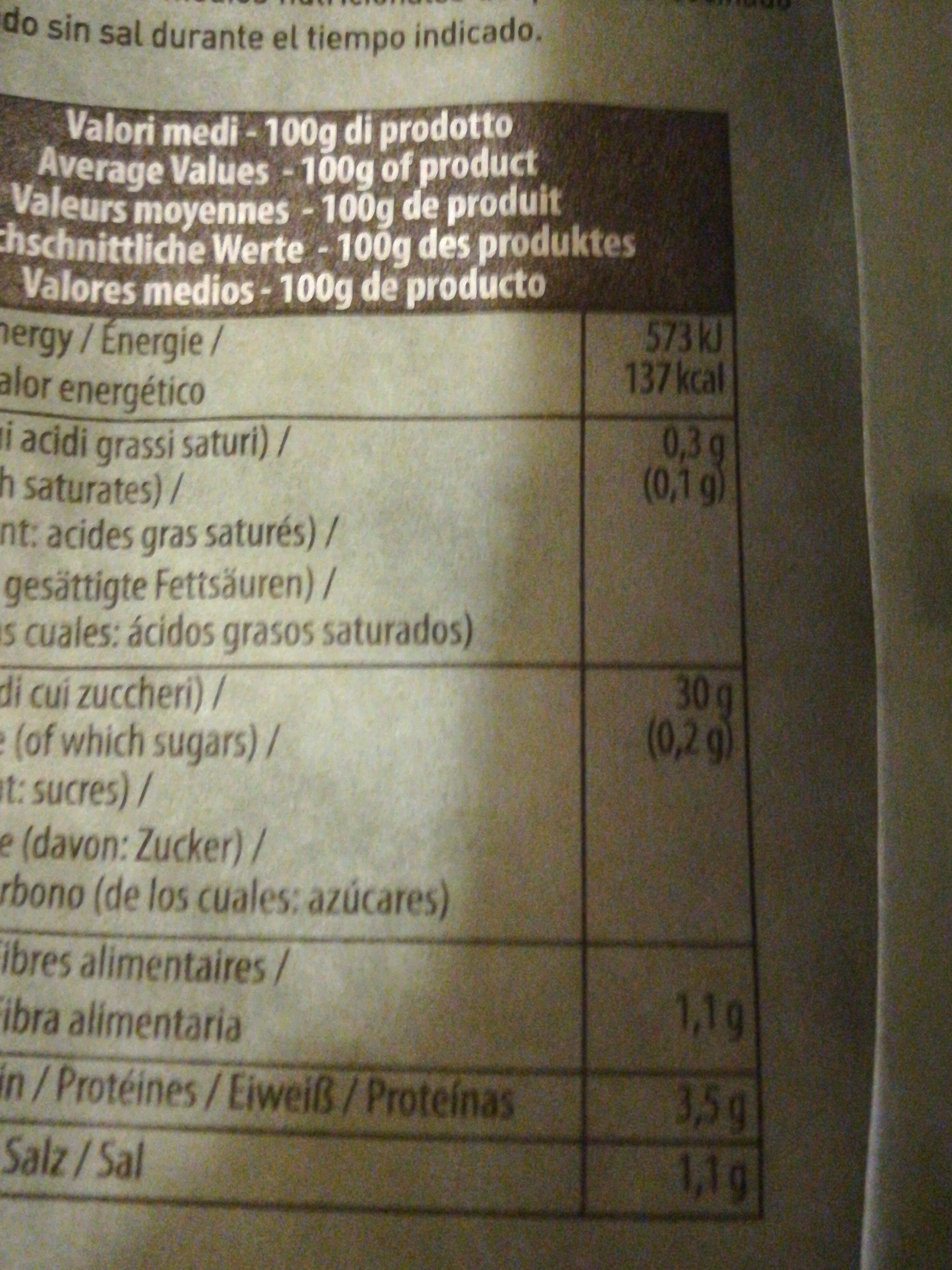 Gnocchi de pommes de terre Bio - Ingrédients