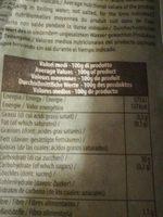 Gnocchi de pommes de terre Bio - Informations nutritionnelles