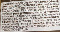 Girasoli ai funghi - Ingredientes - fr