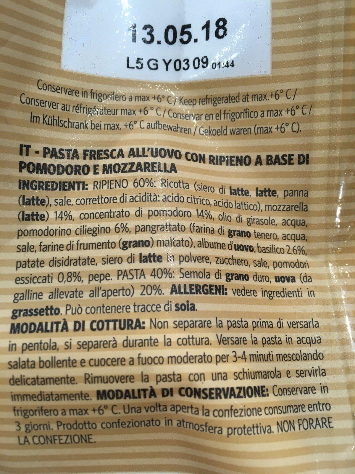 Girasoli pomodoro e mozzarella - Ingrediënten - fr