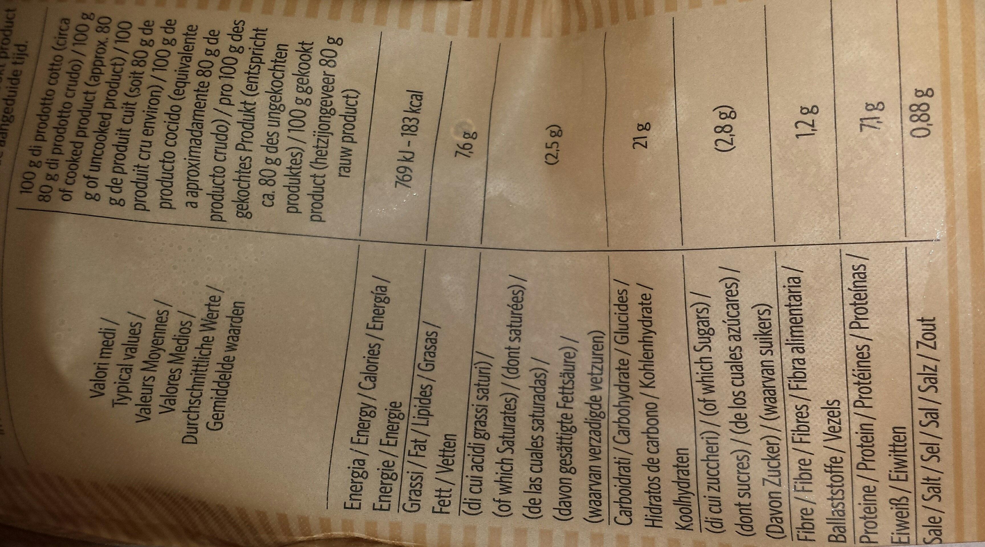 Girasoli pomodoro e mozzarella - Voedingswaarden - fr