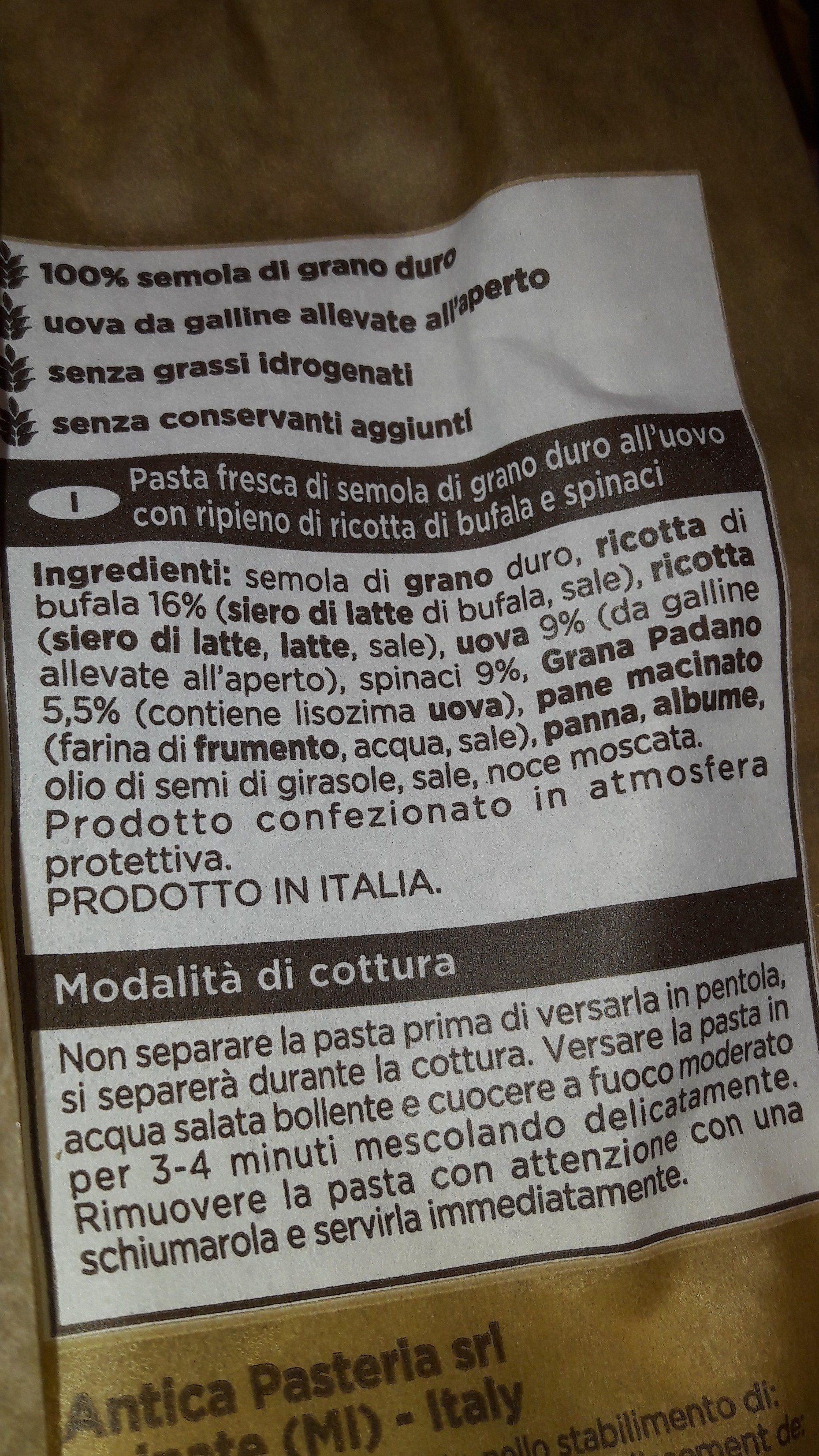 Mezzelune - Ingrediënten - fr