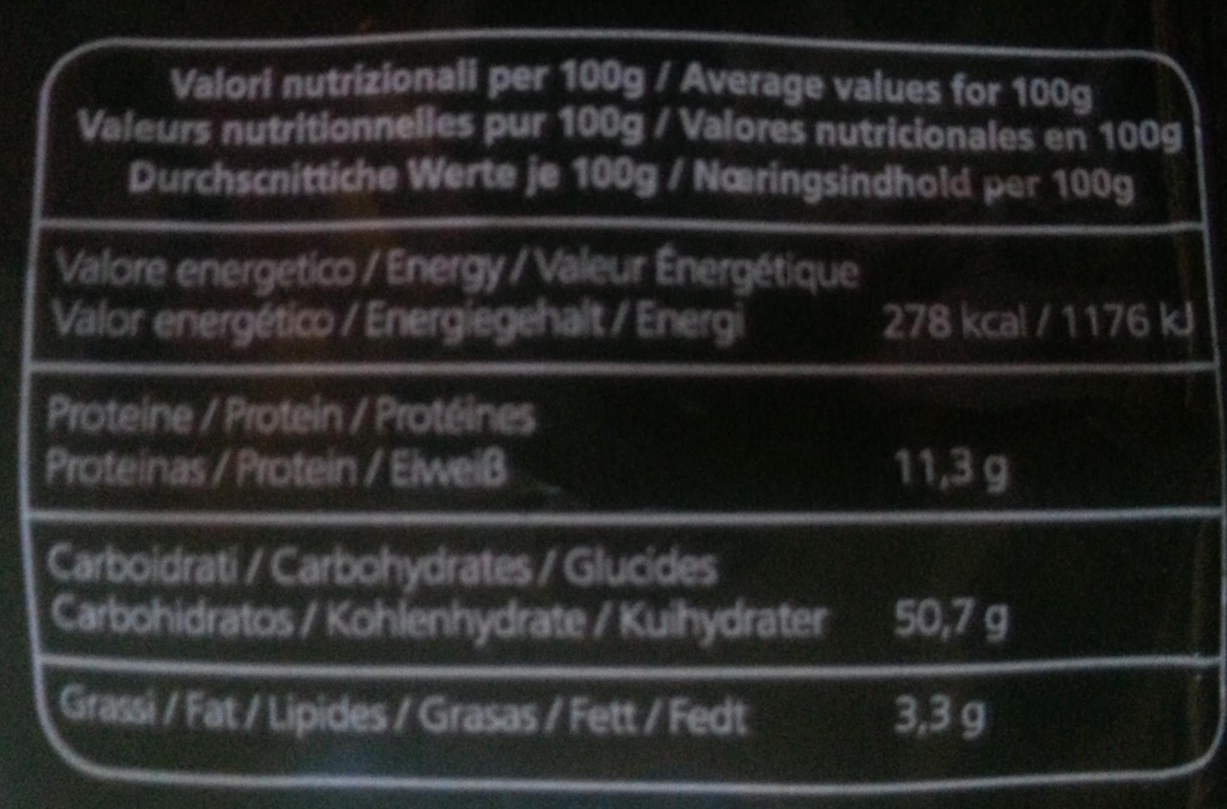 Linguine - Voedingswaarden - fr