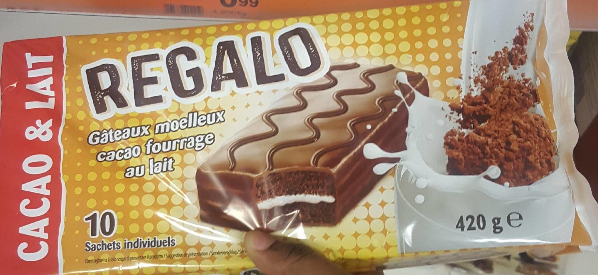 Gâteau moelleux cacao fourrage au lait - Product
