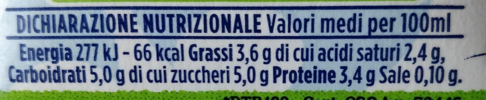 Latte fresco alta qualità - Nutrition facts - it
