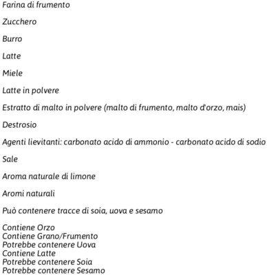 Vittorio al profumo di limone - Ingredients - fr