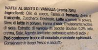 wafer alla vaniglia - Ingredienti - it