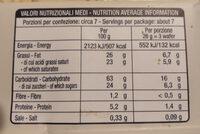 wafer alla vaniglia - Informazioni nutrizionali - it